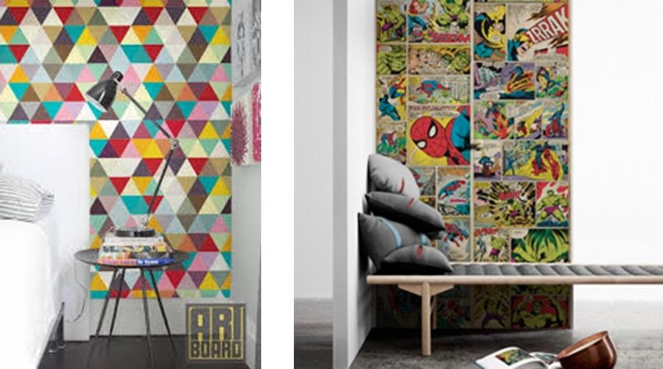 Papel De Parede Para Quarto Herois ~   de colocar uma parede pequenininha com desenho dos super herois so de